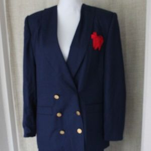 Morgan Miller Navy Double Breasted Skirt Suit